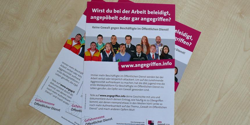 Kampagnen-Flyer für die Arbeit vor Ort anfordern