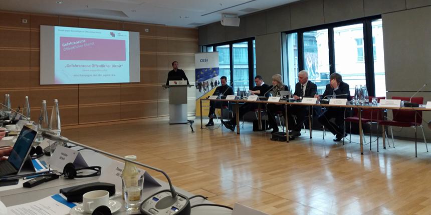 """""""Gefahrenzone Öffentlicher Dienst"""" Best-Practice-Modell bei CESI-Konferenz"""